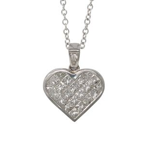 Gold Heart Diamond Pendant 2.14 Ct C31000113